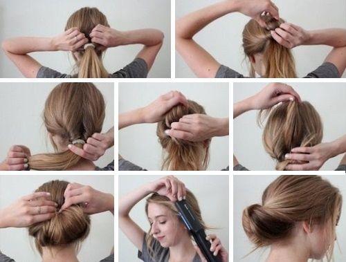 прически на волосы средней длины повседневные