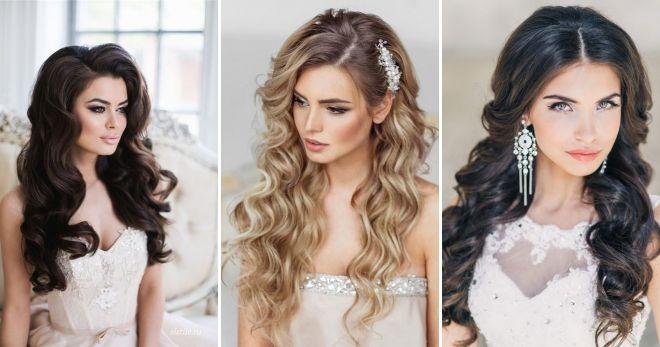 Прически на длинные распущенные прямые волосы