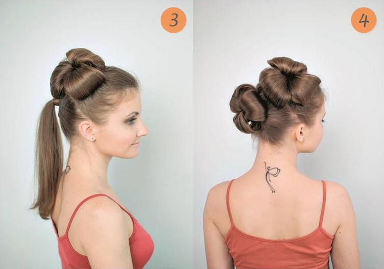 Варианты пучков для длинных волос