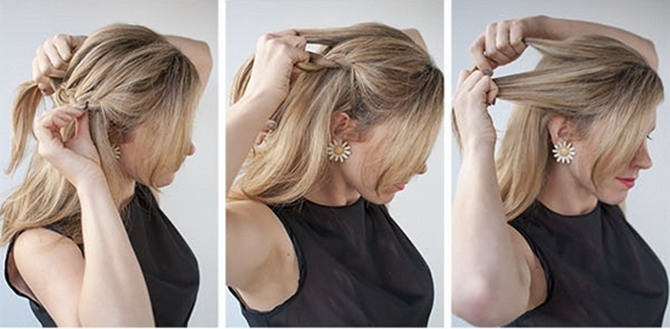 Прически на средние волосы в офис