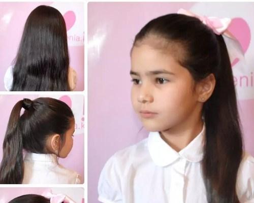Простые причёски для школьниц
