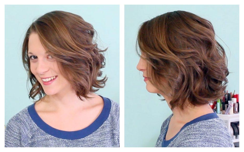 Легкие укладки на короткие волосы