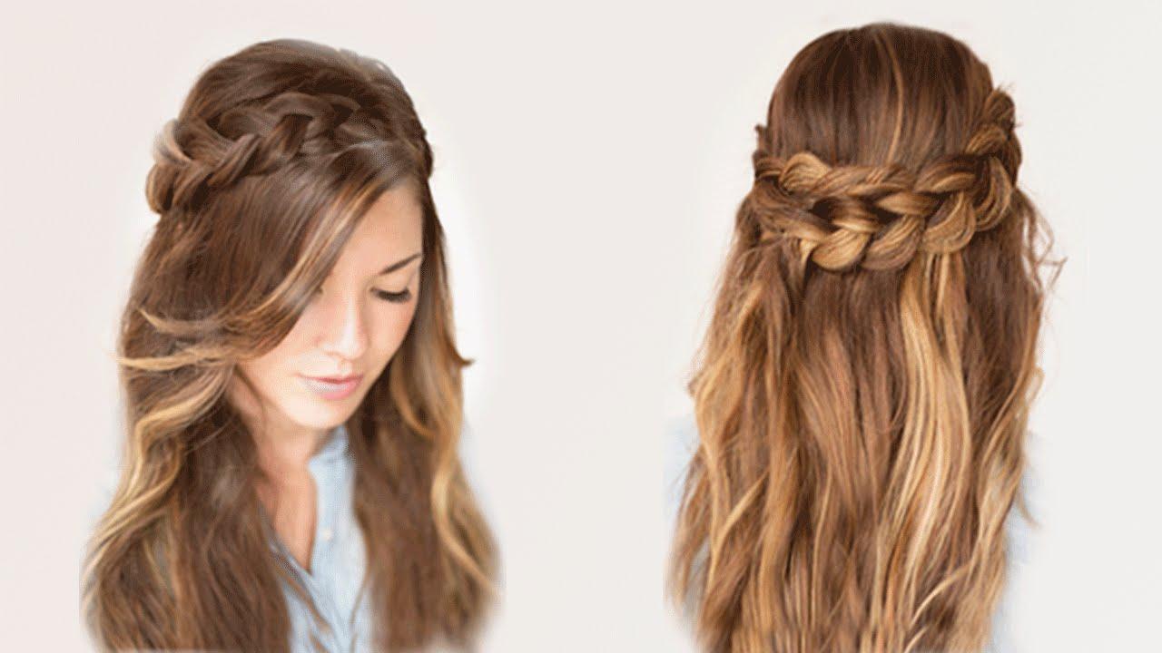 Лёгкая причёска на длинные волосы